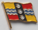 Bedfordshire County Flag Enamel Pin Badge